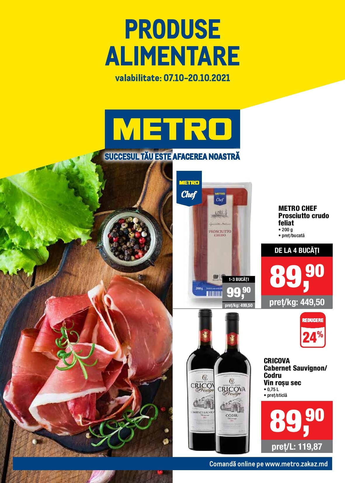 Catalog produse alimentare de la METRO (Nr. 21)