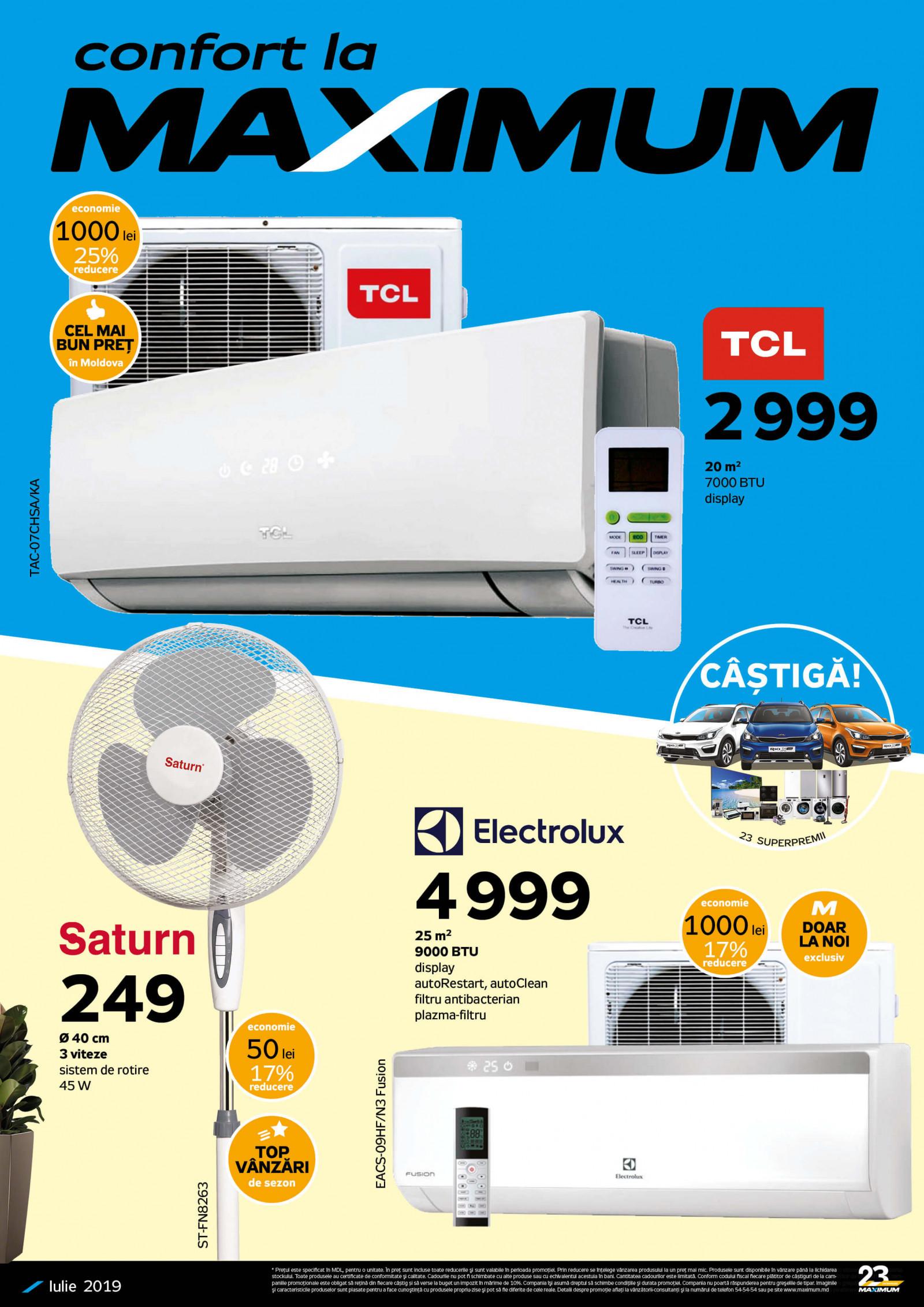Maximum: climatizatoare de la 2999 lei