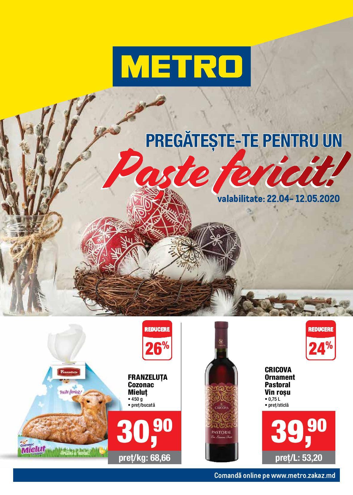 METRO: Ofertă de Paște!