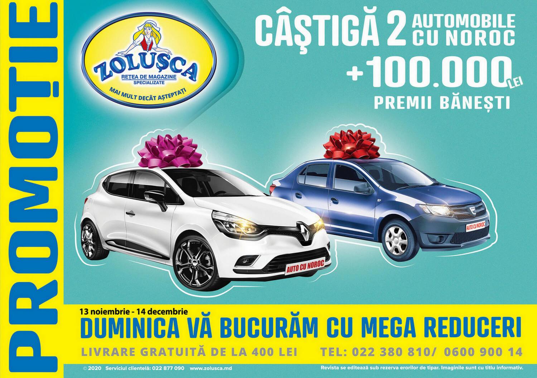 Zolușca - Câștigă 2 automobile cu noroc